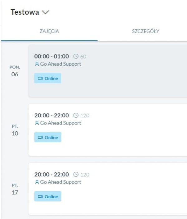 Na bieżąco aktualizowany plan zajęć pozwoli Ci z wyprzedzeniem zaplanować czas.